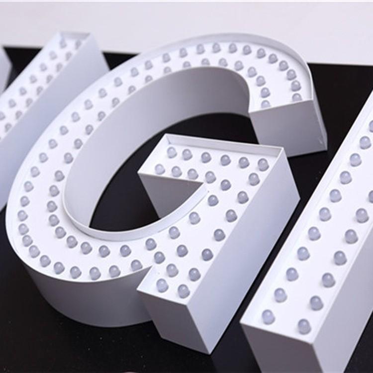 标识制作、LED发光字、穿孔灯、精品不锈钢字、户外发光字树脂字